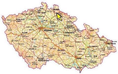 Zlato v čr mapa